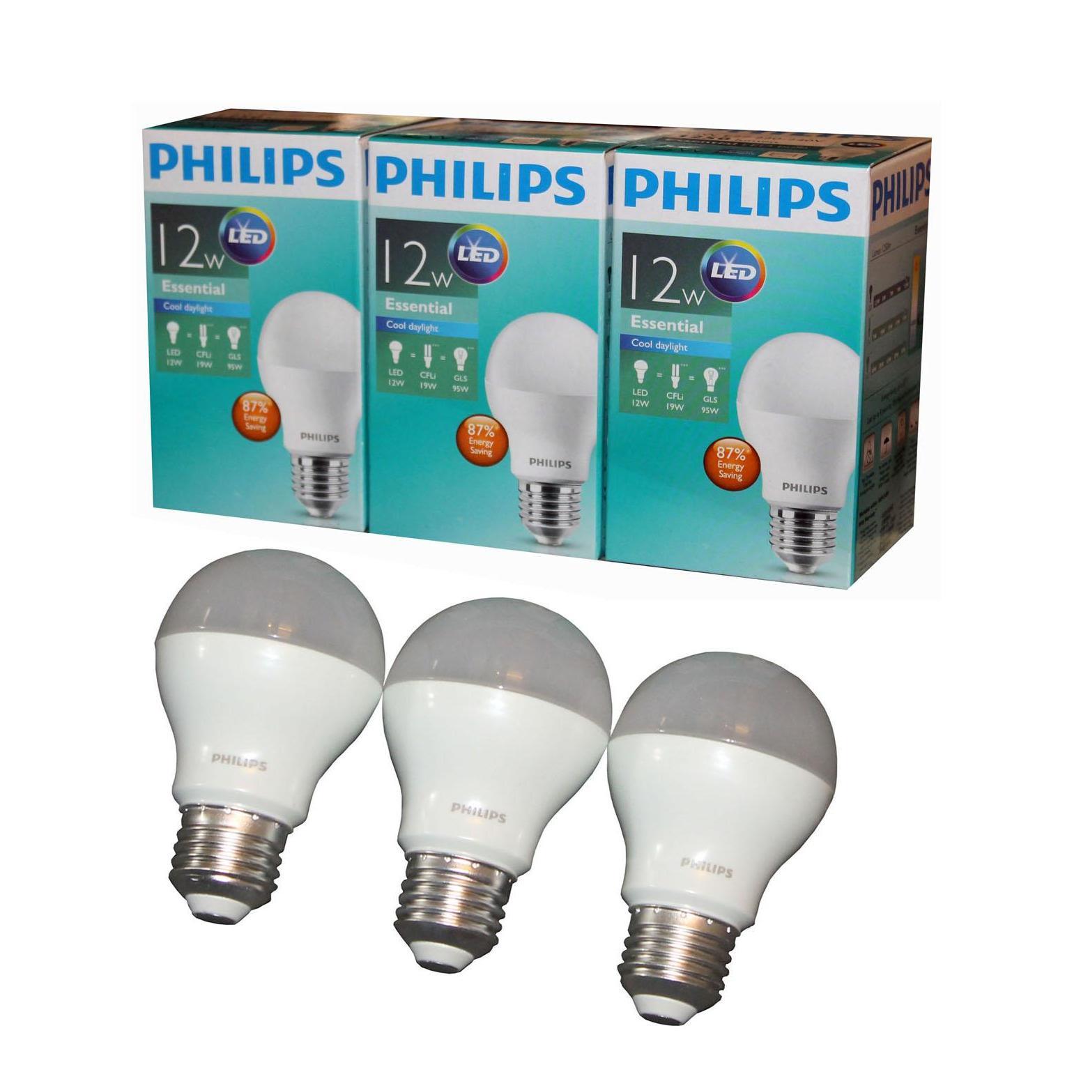 Berikut Daftar Harga Lampu Led Philips 12 Watt Termurah Di Phillips 13 Paketan Bulb Essential Wat W 12watt 12w Paket Isi 3 Pcs