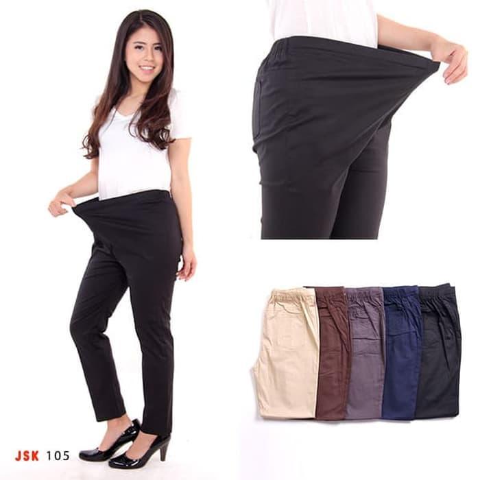JSK 105 - Celana Panjang Ibu Hamil Bahan Katun Adem Nyaman 5d54bb1f0e