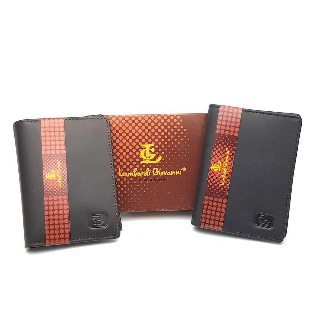 Best Seller!!! Dompet Kartu Nama ATM Kulit Asli Murah - Lombardi Giovanni OUN BROWN Asli Termurah Elegant