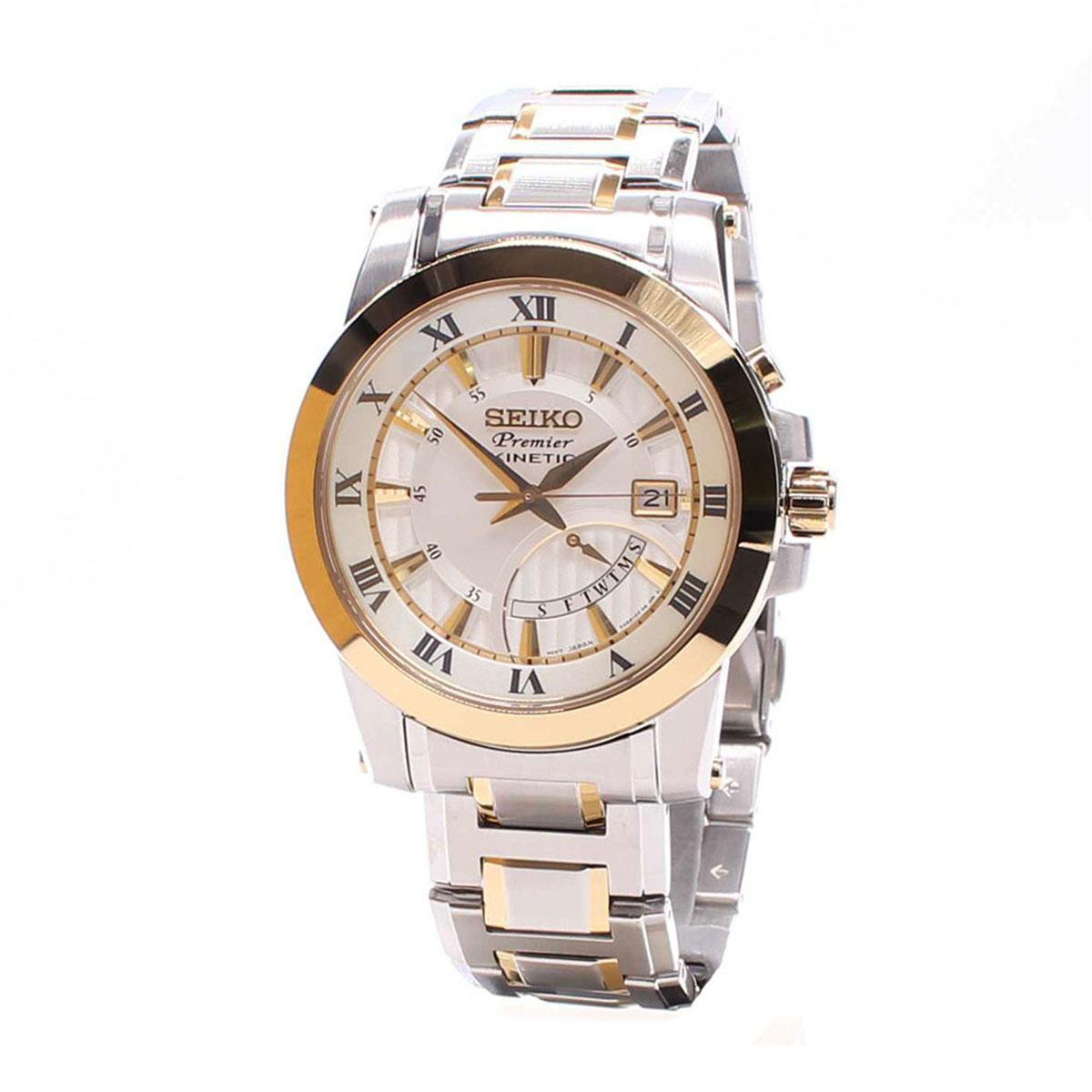 สอนใช้งาน  นครพนม Seiko Premier Kinetic Silver Stainless-Steel Case Stainless-Steel Bracelet Mens SRN040P1