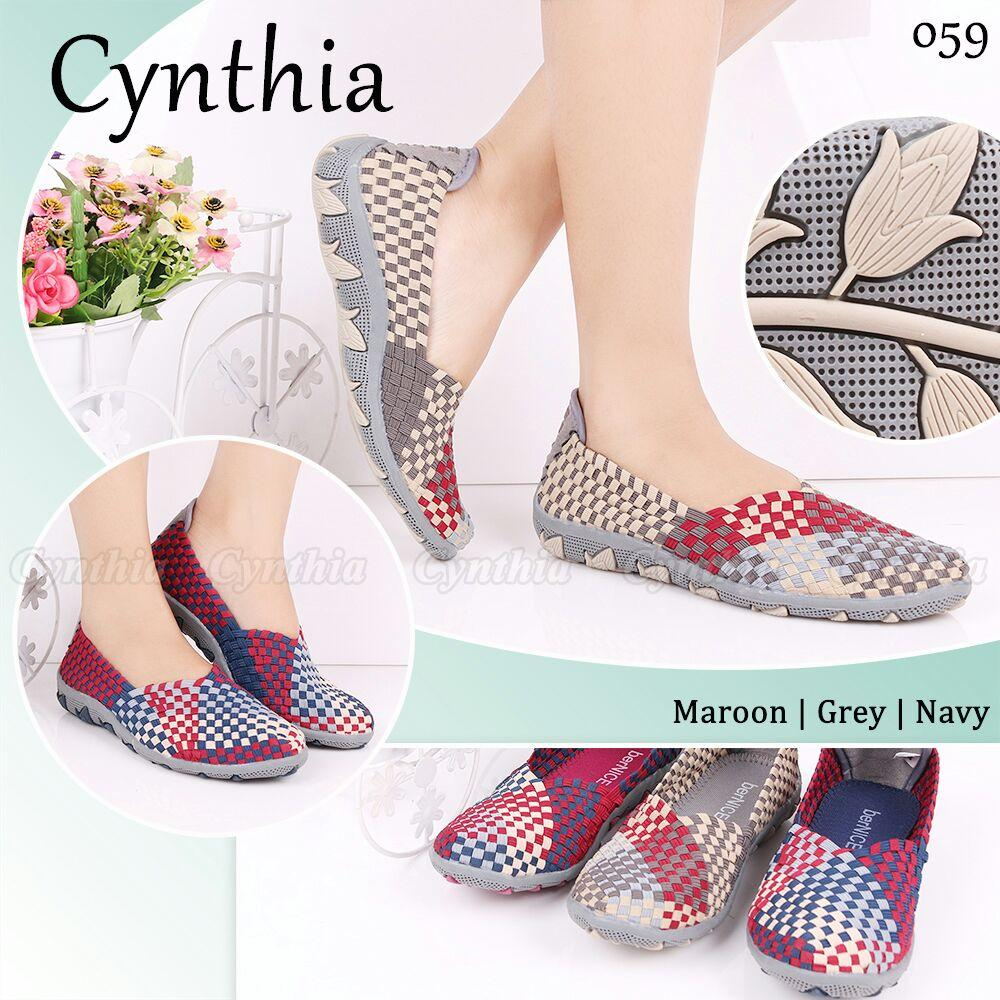 Harga Sepatu Rajut Cynthia Termurah November 2018 Bagoong Store Anyam Kiddo Flat Include Box Semua Tipe 059