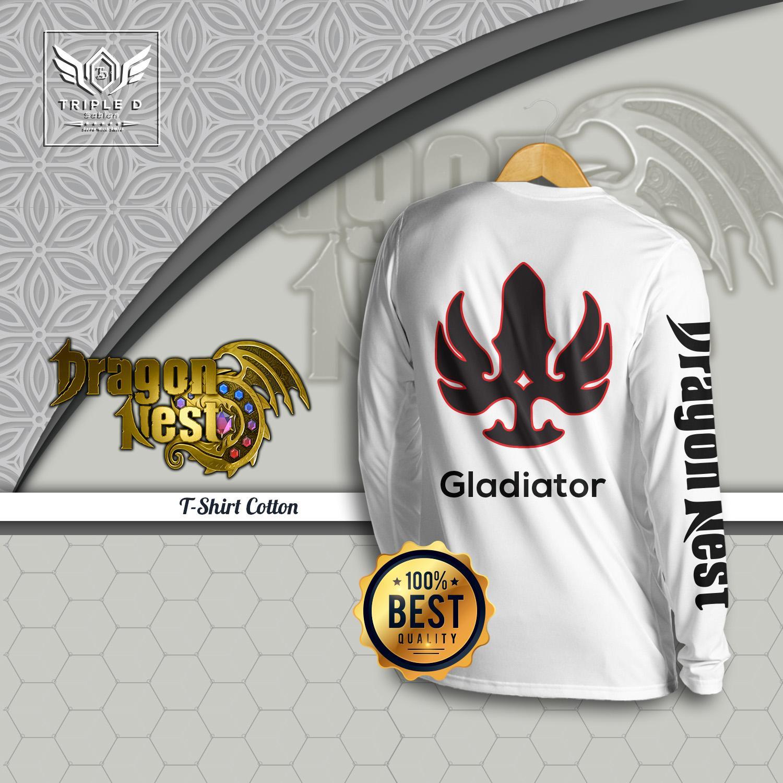 Kaos Distro pria wanita Games Dragon nest (Gladiator) Triple D
