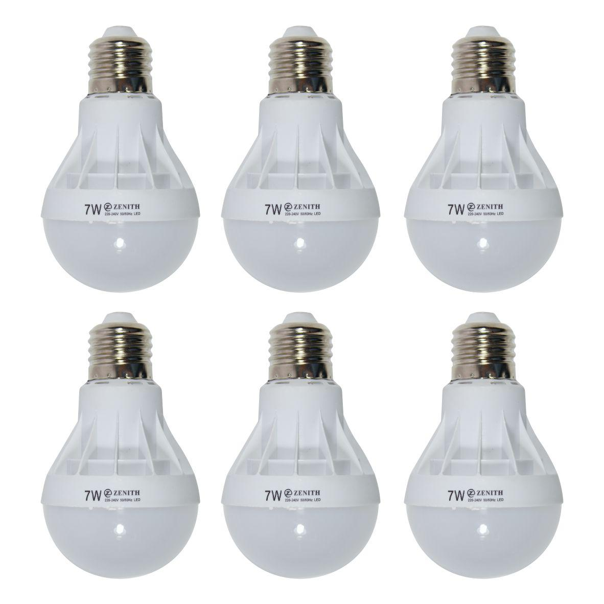 WEITECH LAMPU BOHLAM LED ZENITH HEMAT ENERGI DAN AWET 7 WATT 6 PCS