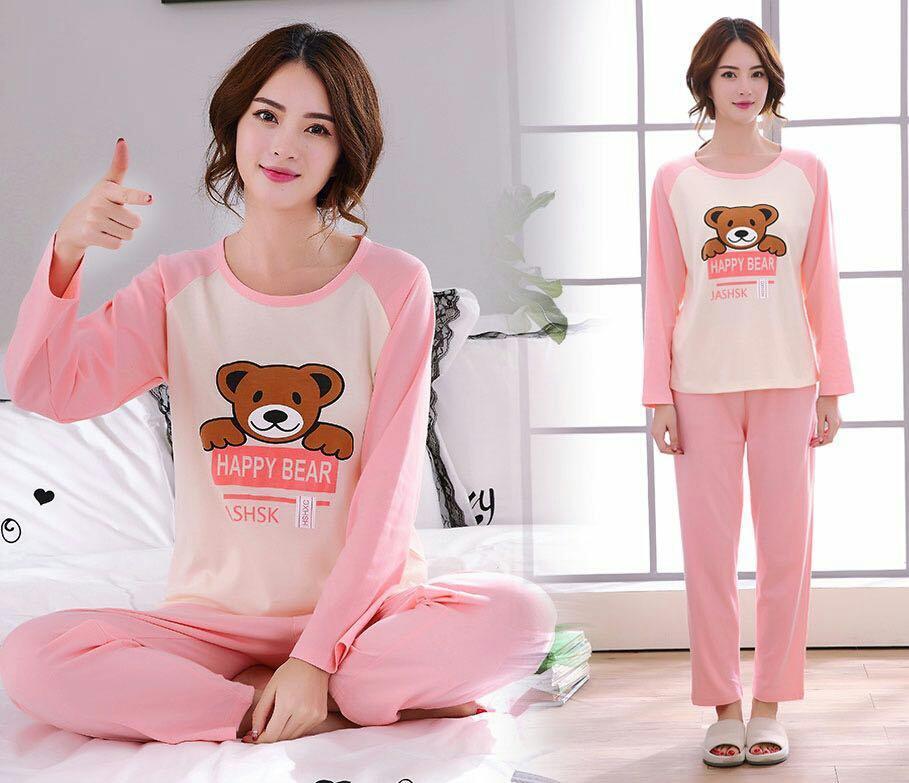 J&C Setelan Piyama Pinky Bear / Piyama Spandek / Setelan Baju Tidur / Setelan Piyama / Piyama Jumbo / Piyama Big Size / Piyama Wanita / Baju Tidur / Baju Piyama / Piyama Korea