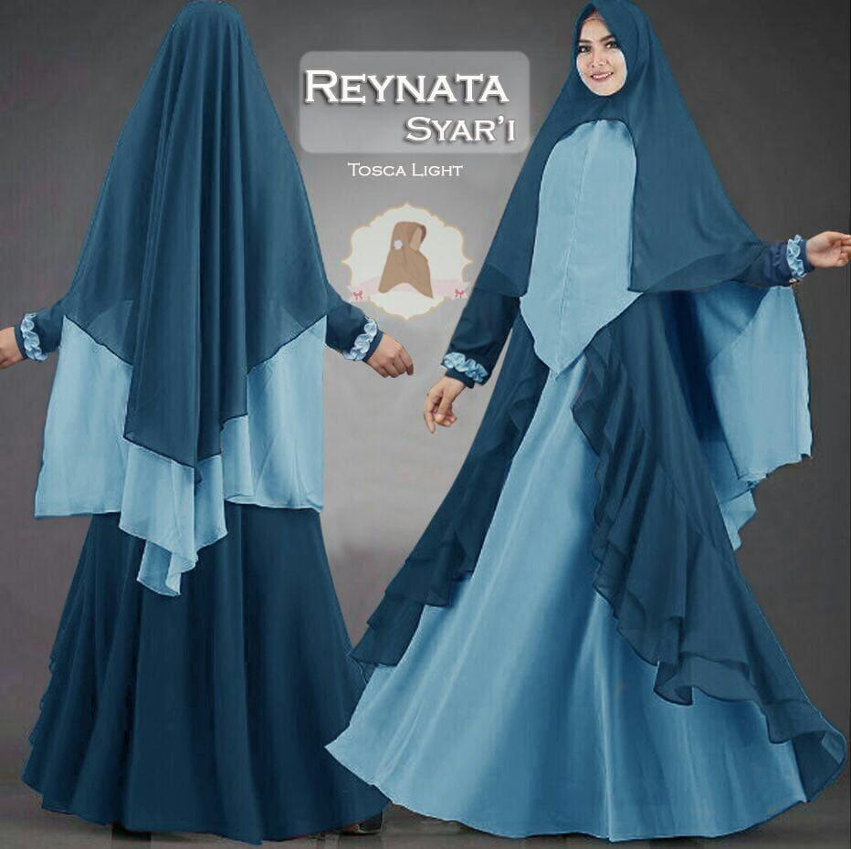 GAMIS SYARI JUMBO MODEL REYNATA WARNA TOSCA LIGHT 119644