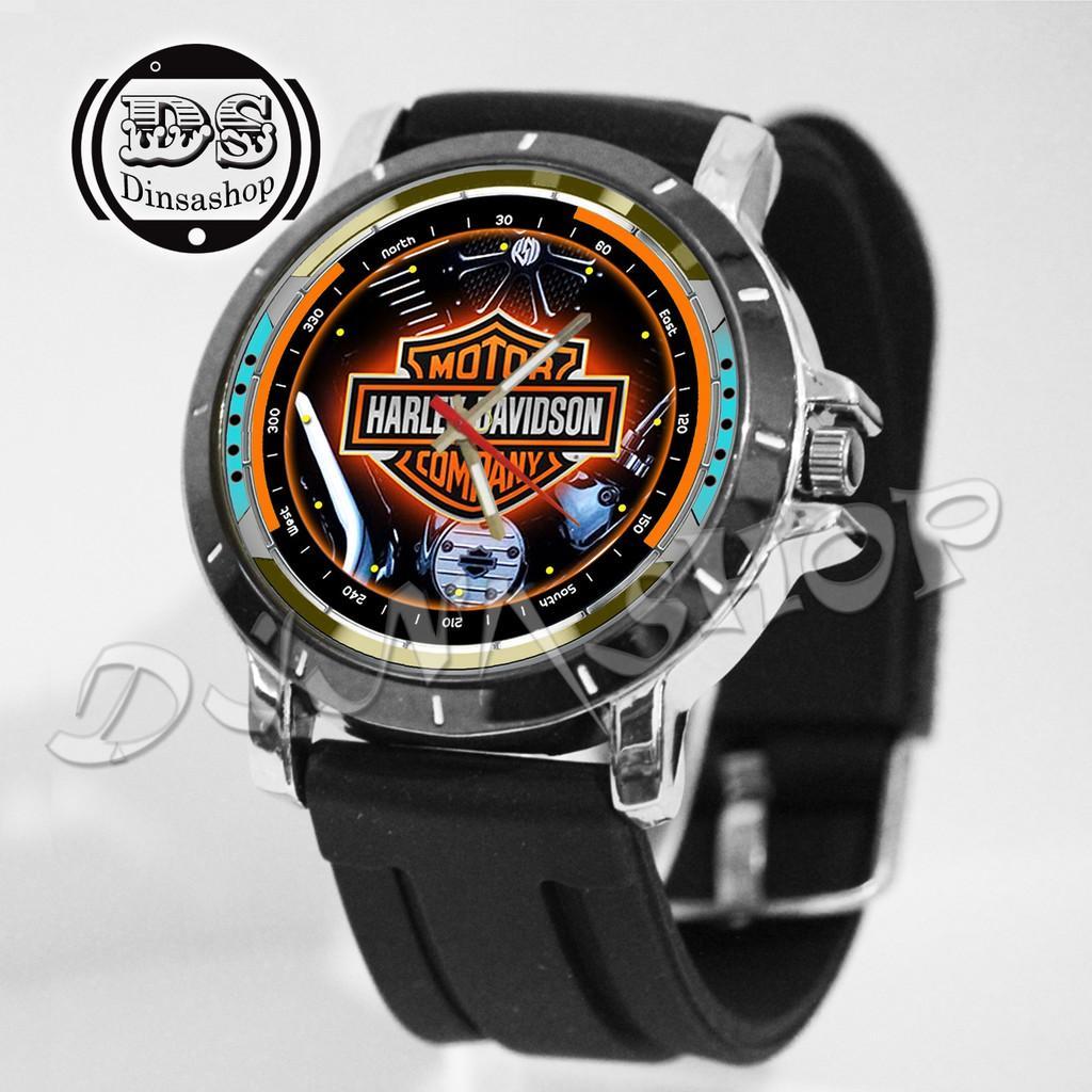 Jam Tangan Custom Motor Harley  Davidson  New Gokil