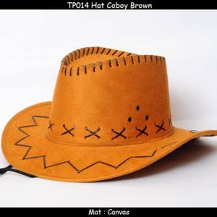 Topi fedora cowboy koboy laken anyaman lebar grosir