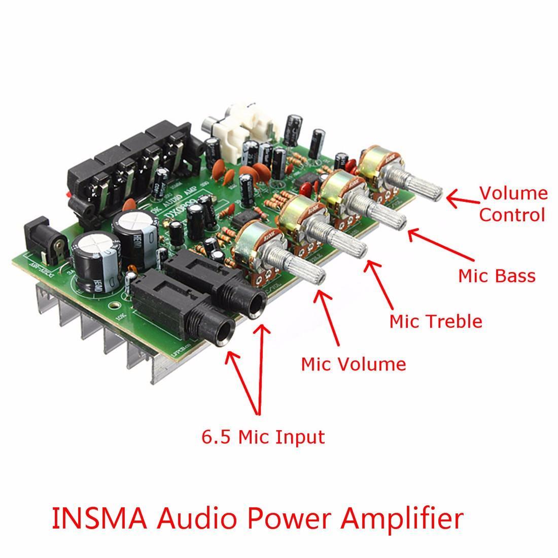 Flash Deal 12V 60W Hi Fi Stereo Digital Audio Power Amplifier Volume Tone Control Board Kit - intl