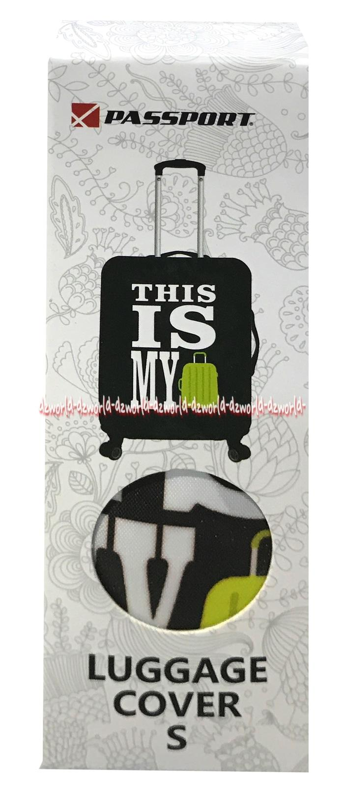 Passport Luggage Cover Sarung Koper Motif This Is My Size S Uk 18-22In
