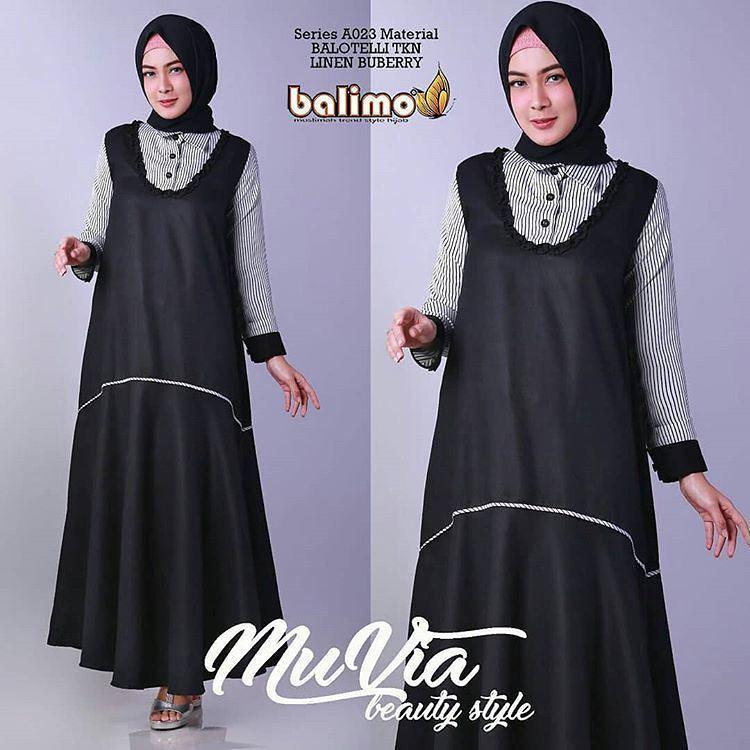 Meliana Baju Muslim Source · Bahan Maxi Hijab Muslim Source MUVIA MAXI GAMIS .