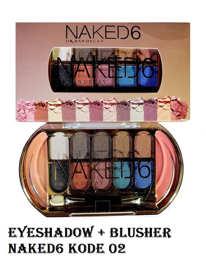 Berjaya Store - Make Up Palette Eyeshadow 10 Warna + Blusher / Blush On 2 Warna