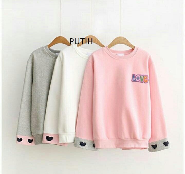 Rp 34.900. HRV Shop Sweater Wanita Hand Love   Sweater Wanita   Sweater  Remaja   Sweater Wanita Murah  Sweater Gaul   Jaket Cewek   Baju Hangat   Baju  Tebal ... 3526665775