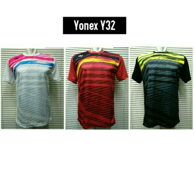 Kaos Baju Olahraga Jersey Badminton / Bulutangkis Yonex Y32