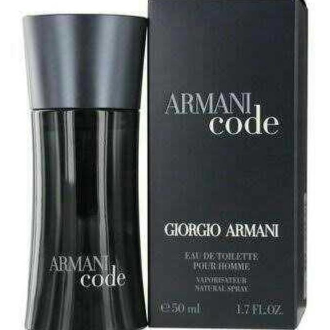 Parfum Ori Eropa Nonbox Armani Code Black For Men 50 Ml Diskon