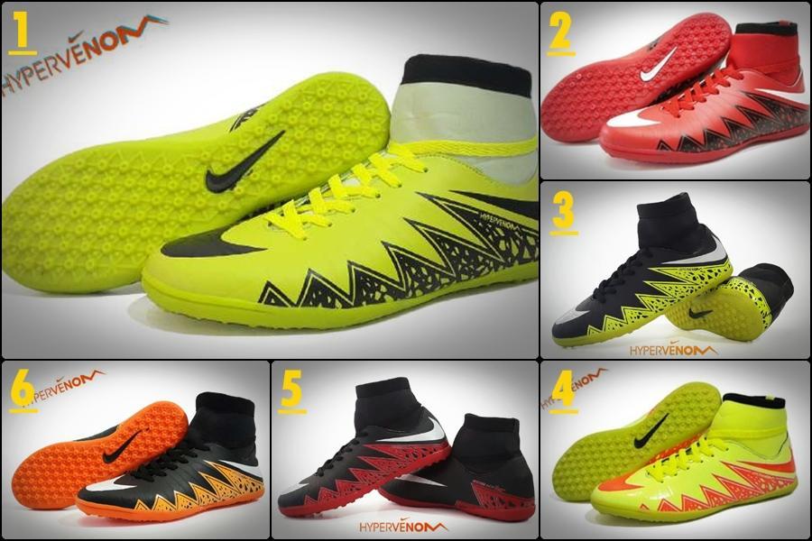 Promo Sepatu Murah Nike Futsal Hypervenom Original Vietnam Ijo Hitam Diskon
