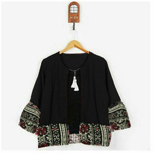 DoubleC Fashion Cardi Batik / Cardigan Batik / Cardigan Wanita / Kardigan Wanita / Kardigan Korea / Kardigan Batik / Kardigan Pendek / Outer Wanita / Outer Batik