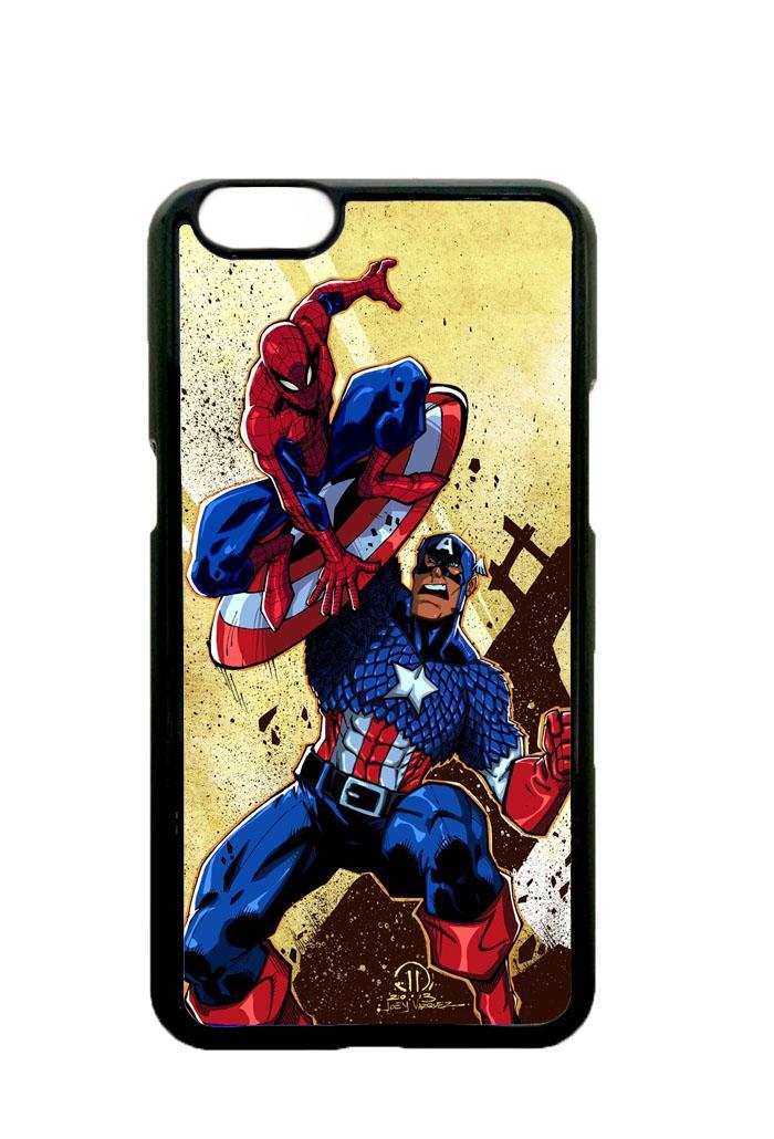 Casing OPPO A71 Custom Hardcase captain america vs spiderman Z0492 Case Cover