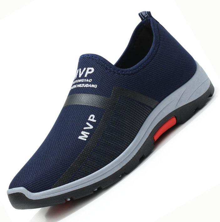 Populer Modis Sneakers Pria Sepatu Santai Selip-On Loafer Sepatu Olahraga Sepatu Lari Bernapas Pria Modis Sneakers Kasual sepatu Olahraga Sneakers Bernapas Menjalankan Sepatu