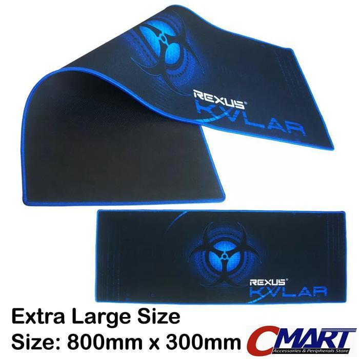 Rexus KVLAR Gaming Mousepad T1 Size: 800x300 tatakan alas mouse pad Extra Large
