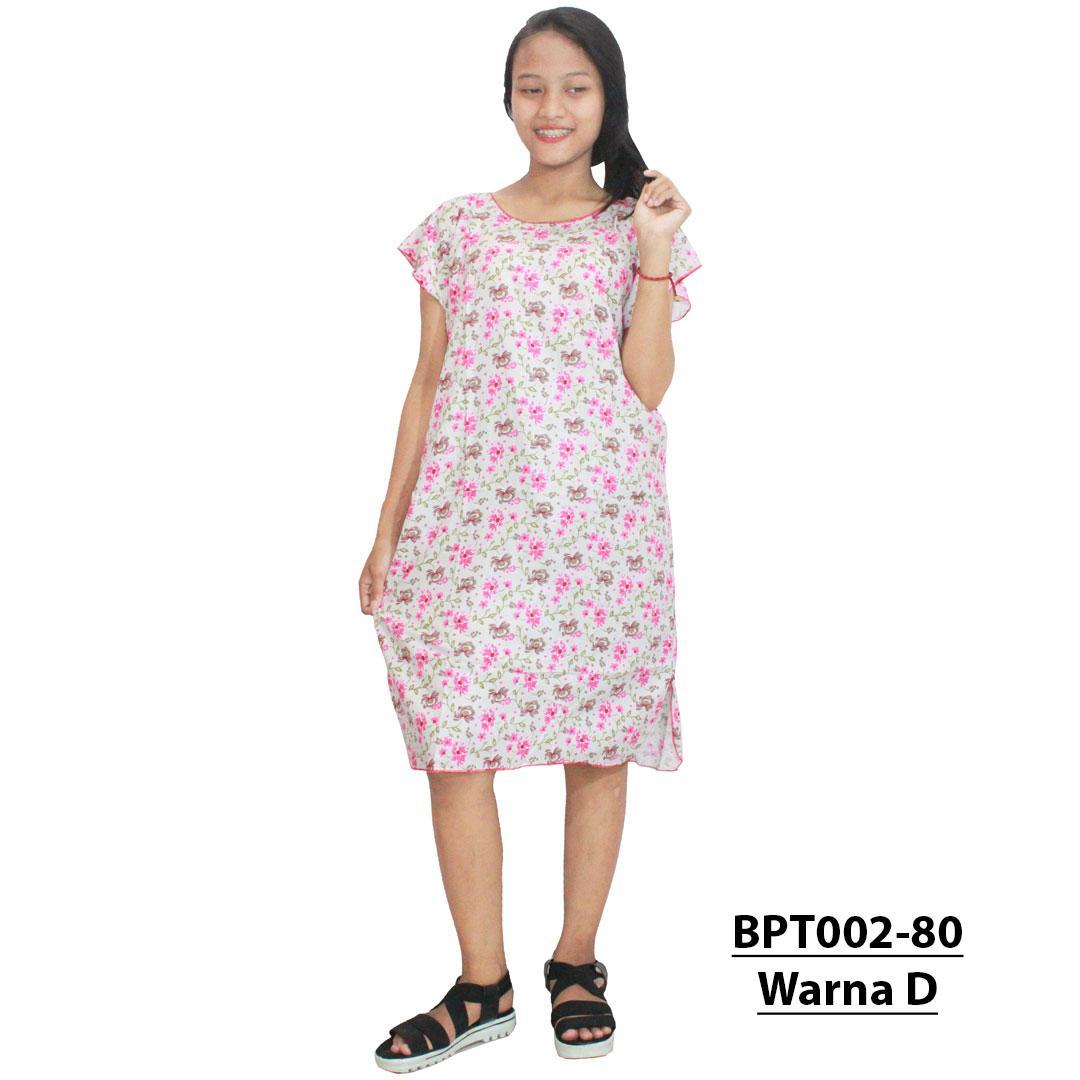 Midi, Daster Midi, Dress Santai, Baju Tidur, Piyama, Atasan Batik (BPT002-80) Batik Alhadi