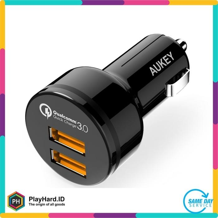 Aukey USB Car Charger 2 Port 36W With QC 3.0 & Aipower - CC-T8