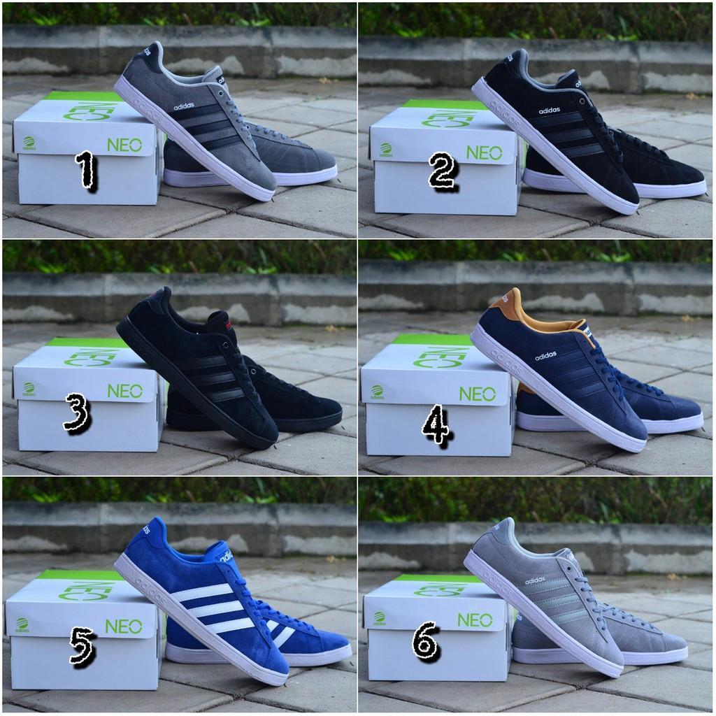 promo sepatu ADIDAS NEO DERBY IMPORT running berkulitas murah keren lari kerja snatai formal