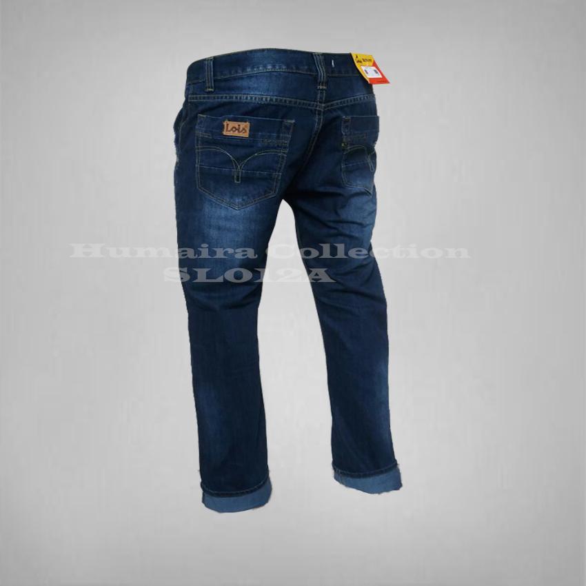Celana Murah Pria-Celana Jeans Biru Wash Standar/Reguller/Basic/Formal/Casual/Jeans Lois Lurus-Best seller