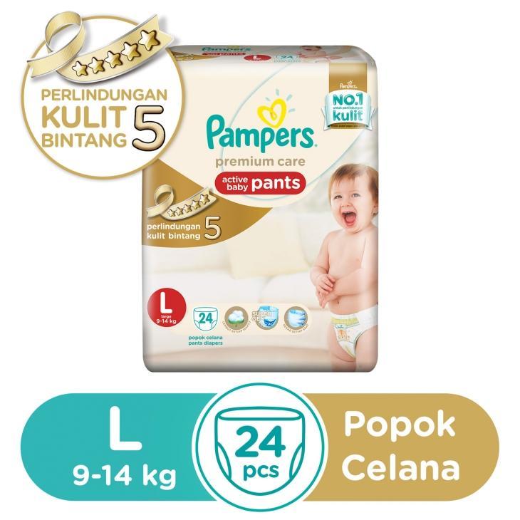 harga Flash Sale Pampers Popok Celana L 24 Premium Care L24 diapers pant anak bayi Lazada.co.id
