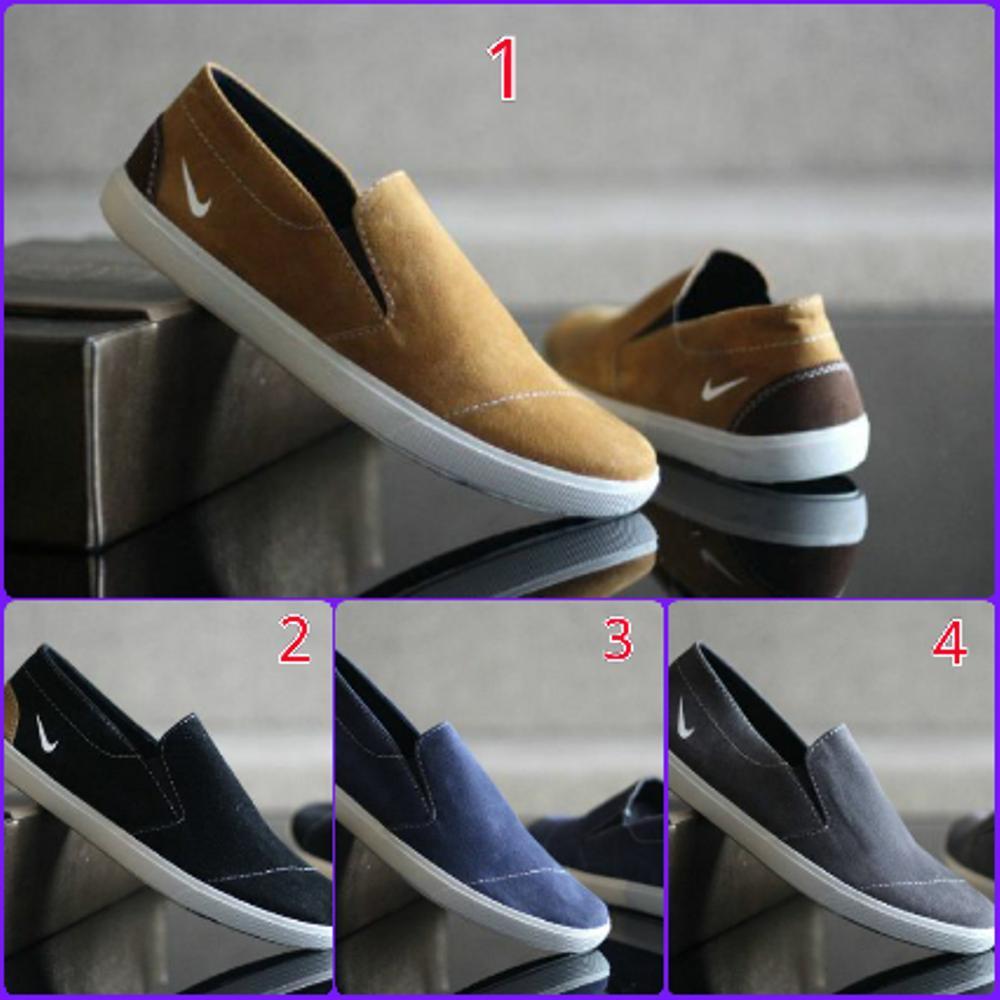 Promo Sepatu Nike Casual Mocasin Kulit Suede (sepatu santai, sepatu jalan, sepatu sekolah, sepatu Kerja, sepatu Loafers, sneaker, slip on, Pria, Sepatu Formal, Original) Diskon