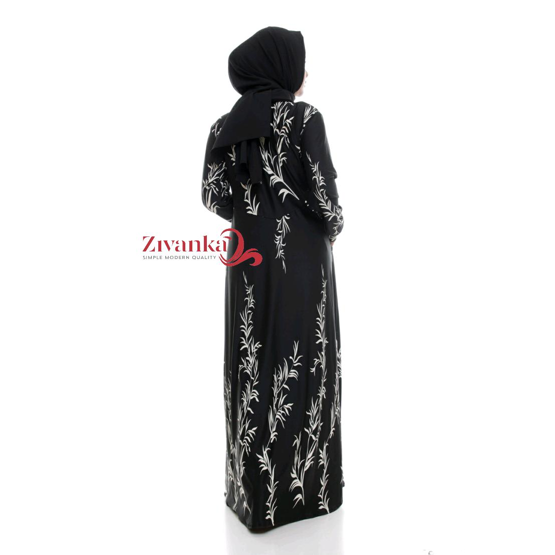 GM-073 GAMIS MOTIF BAHAN MISBY STRETCH BUSUI ALL SIZE