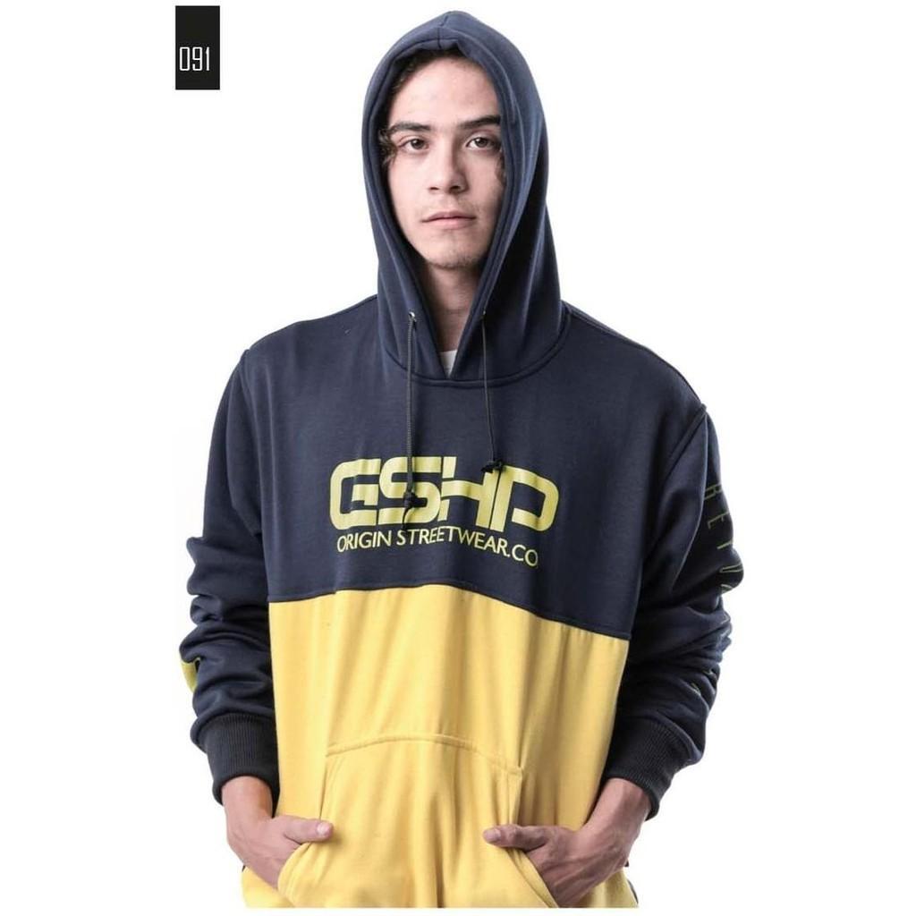 Jaket Pria Sweater Hoodie Kombinasi Keren Gshp Original Gs1407 - Asgfgh
