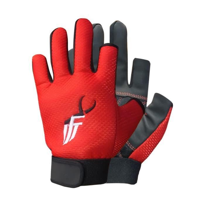 Sarung tangan mancing IFT SQUAMA RED semi full - tq0nQp