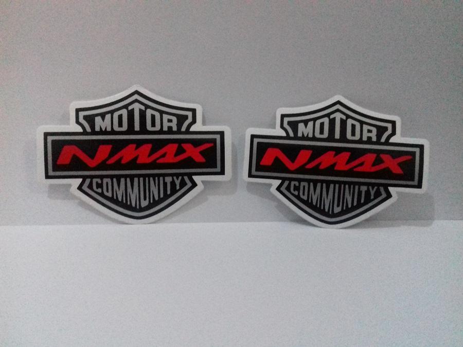 Stiker Motor Nmax Community isi 2 pcs