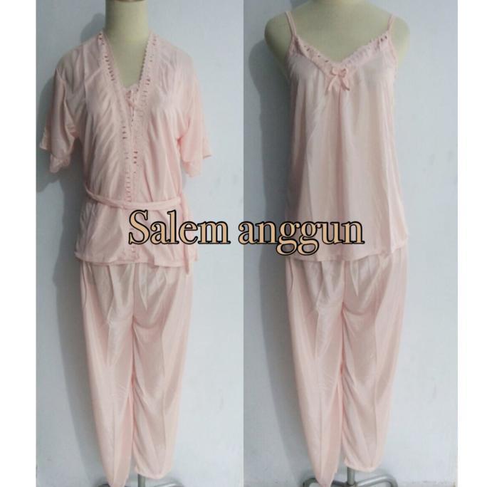 Piyama Dewasa Baju Tidur Dewasa Wanita Setelan Celana Panjang Kimono  Ghtpoef