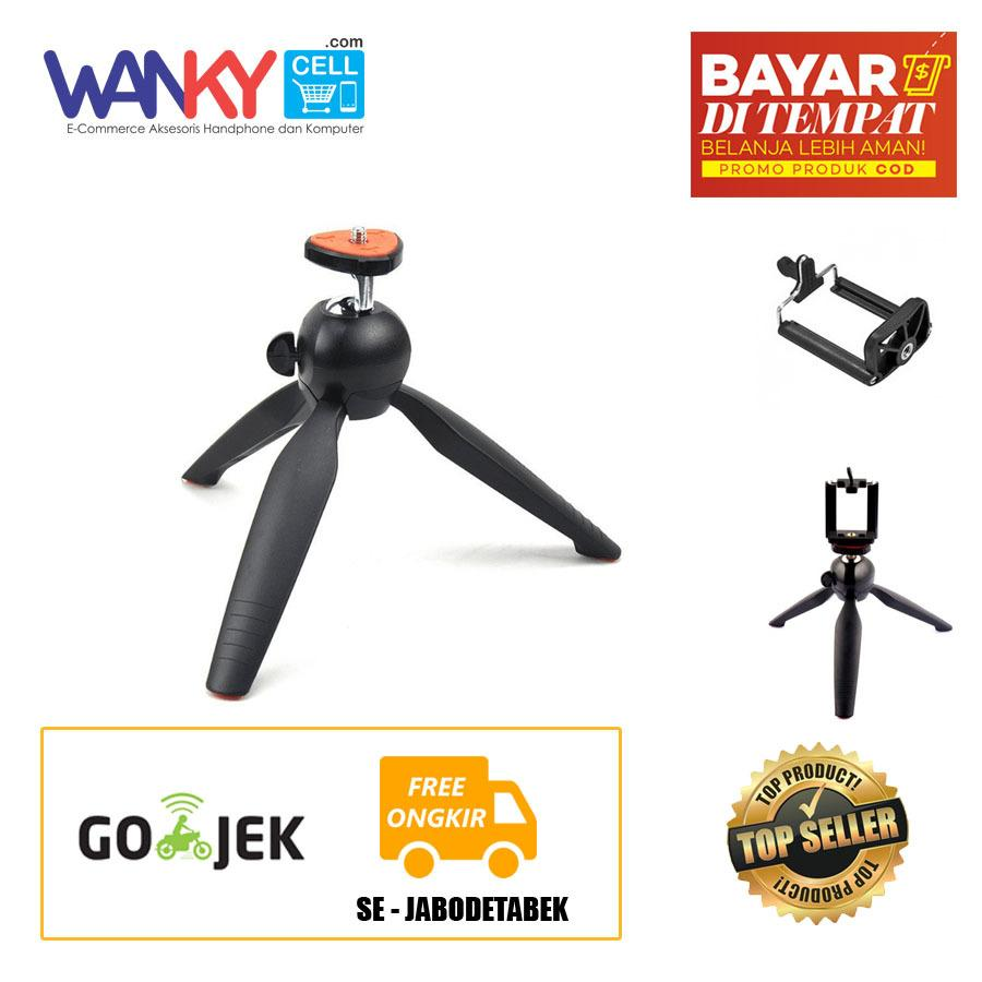 Yunteng Tripod Mini YT-288 Mini For Camera & Smartphone With Holder U - Hitam