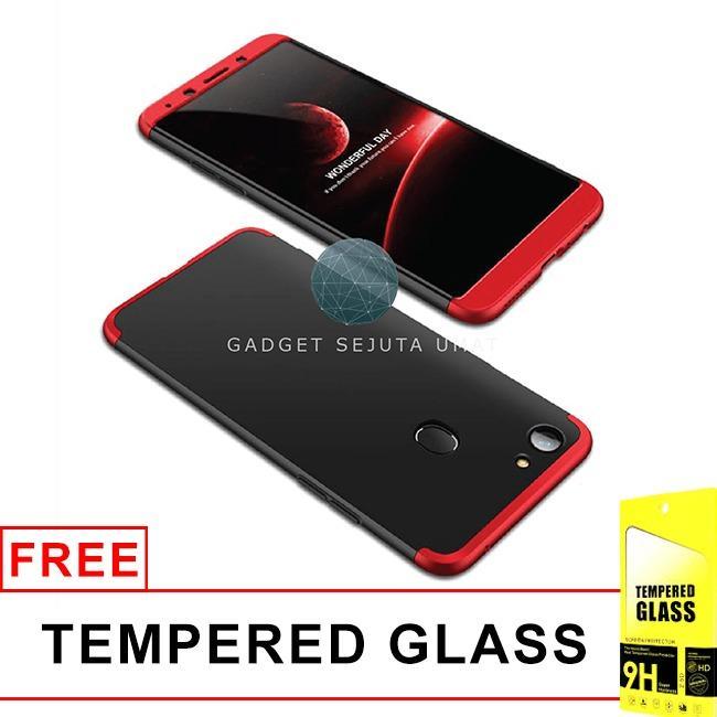 GSU Oppo F5 360 Full Cover Armor 360 Baby Skin Hard Case + Tempered Glass / Casing Oppo F5 / Softcase Oppo F5 / Casing Hp Oppo F5 / Case Hp Oppo F5 / Hardcase Oppo F5 / Oppo F5 Case / Oppo F5 / Flip Cover Oppo F5 / Flip Case Oppo F5 / Aksesoris Flip Cover