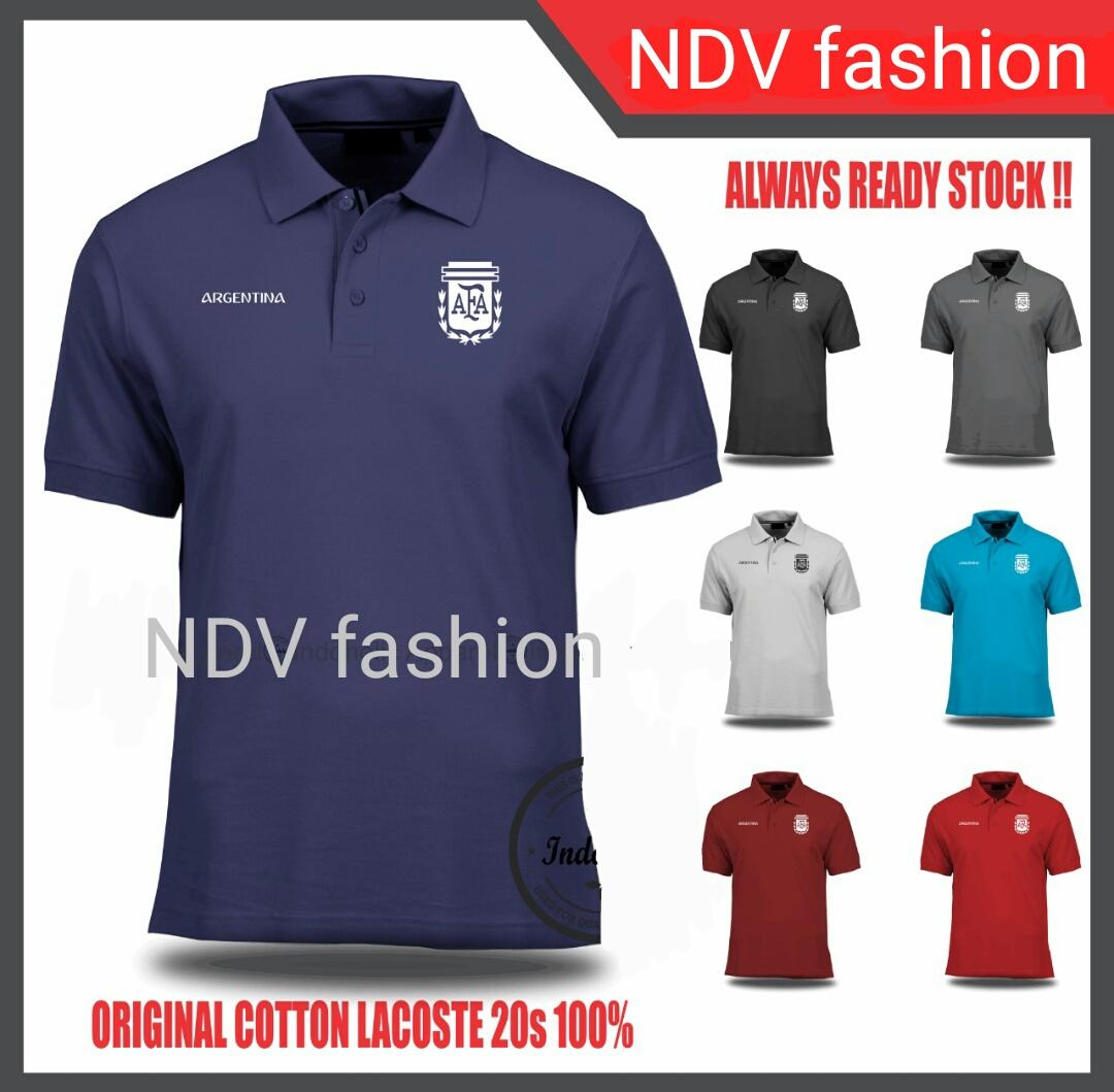 BAJU KAOS JERSEY PIALA DUNIA 2018 ARGENTINA Lengan Pendek Original by NDV Fashion (BEST SELLER) Model Polo Baju Bola Kerah Jersi World Cup Official Team Terlaris