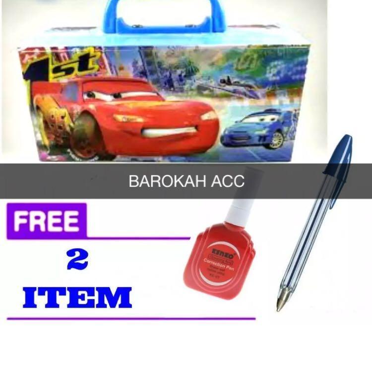Tempat / Kotak Pensil Karakter CARS Dengan Kode + FREE Tipe X + Pulpen Cantik-BR