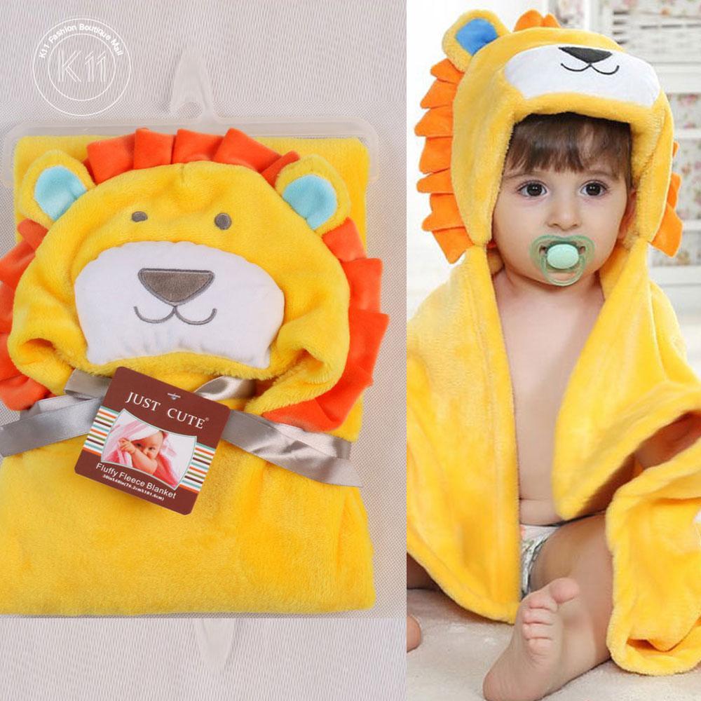 f692885a894 New Soft Hooded Animal Baby Bathrobe High Quality Cartoon Baby Towel  Character Kids Bath Robe Infant