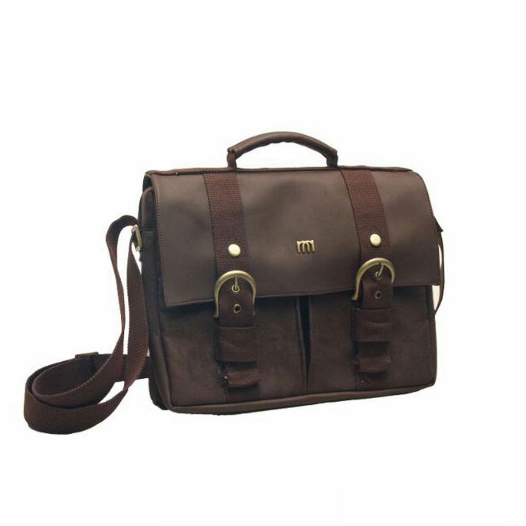 Namian Post Bag Aetos - Tas Selempang Laptop - Tas Klasik Pria Warna Coklat Tua