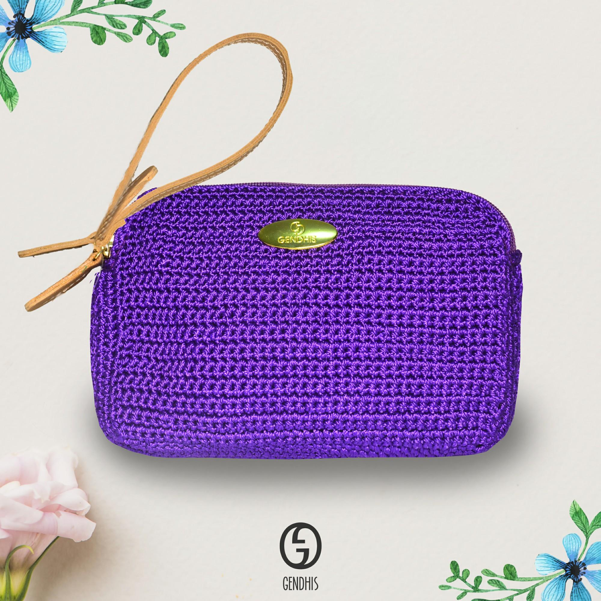 Tas Wanita / Tas Murah / Tas Kecil / Pouch Make Up / Pouch Bag / Pouch Wanita Sherly Violet pouch Original Gendhis Pouch Rajut