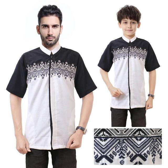 Couple Atasan Baju Muslim Liko Koko Kemeja Anak Dan Ayah
