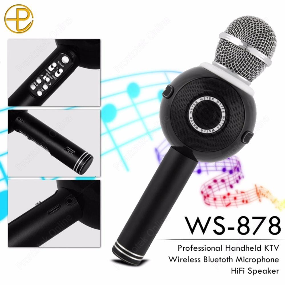 Kelebihan Fleco Ws 878 Mic Karaoke Bluetooth Smule Hitam Terkini Wster 858 Lumin Bigo Speaker