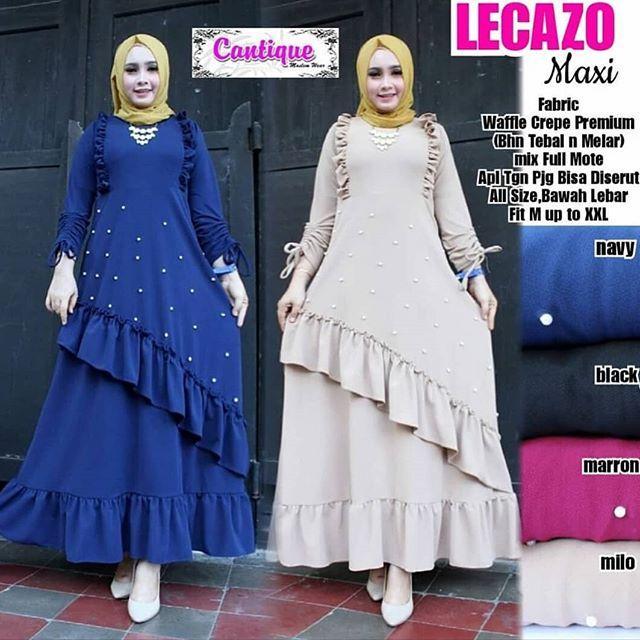 TJK Fashion Shop LECAZO Dress  Gamis Casual  Gamis Terbaru Tahun Ini