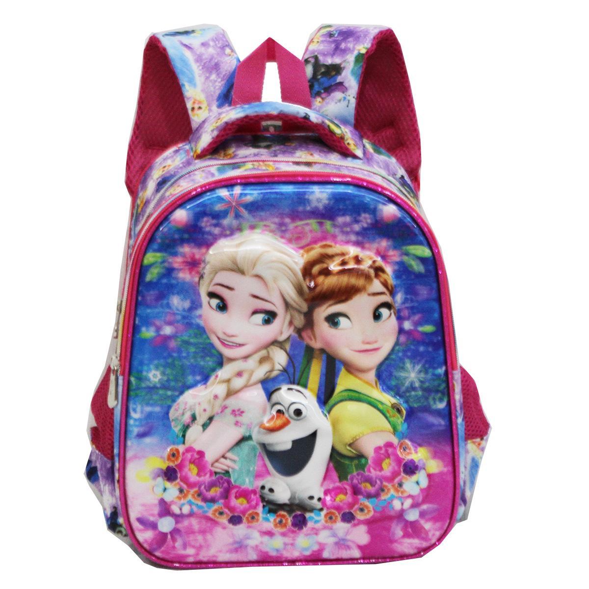 ... Onlan Tas Ransel Anak Perempuan Frozen 5D Timbul Hologram Ukuran Anak Sekolah TK Import - Pink ...