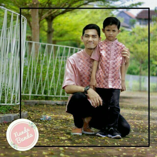 Baju Koko Couple Ayah dan Anak - Baju Koko - Koko Al Haramain - Koko Couple Ayah size S/M/L/XL