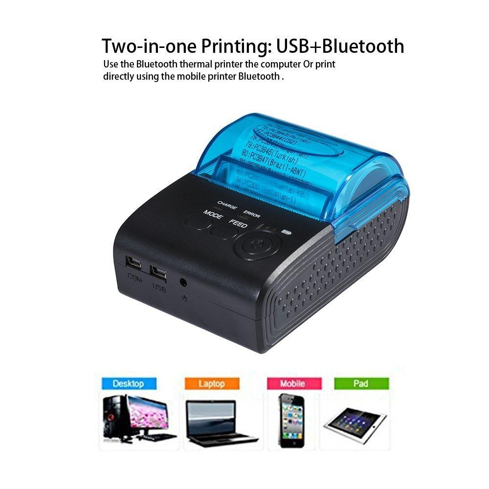 PROMO TERBARU Printer Mini Portable Bluetooth Thermal Receipt 5805-DD merk TaffWare selaini Eppos