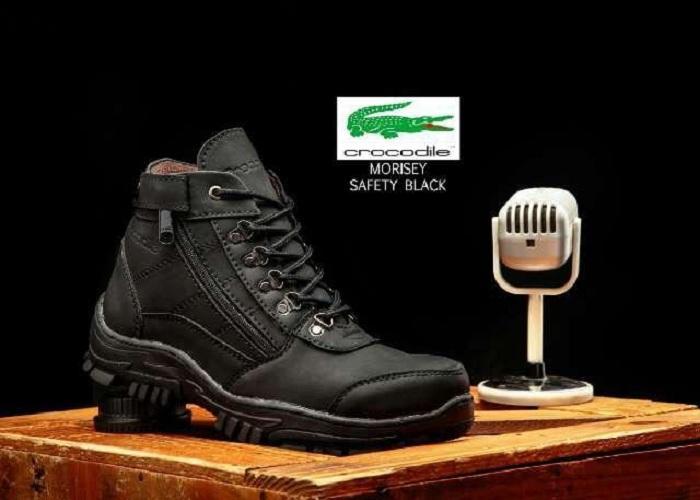 Promo Sepatu Boots Pria Crocodille New Morisey Safety Ujung Besi (Sepatu Hiking, Sepatu Kerja, Sepatu Jalan, Sepatu Santai, Sepatu Gunung, Sepatu Treking, Lapangan, Sepatu Kulit, Sneaker, Slip On, Slop, Adidas, Nike, Pria, Sepatu Projek, Sepatu Bikers)
