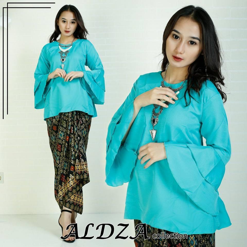 stelan baju batik wanita- kebaya modern minut. model terbaru.WARNA GREEN dbea3c2119