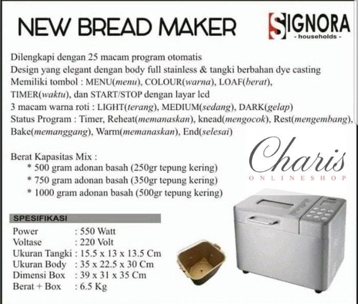 Signora - New Bread Maker Mesin Roti